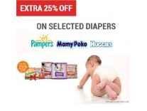 Diapers Minimum 30% off from Rs. 99 @ Flipkart