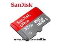 SanDisk Ultra MicroSDHC UHS-I Class 10 Memory Card 32GB Rs. 699, 64GB Rs.1399 - Amazo