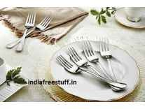 Solimo 6 piece Stainless Steel Fork Set Rs. 162 - Amazon