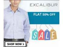 Excalibur Men's Clothing 60% off from Rs. 279- Amazon