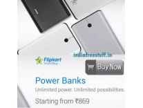 Flipkart Smartbuy Power Banks upto 10000 mAh Rs. 599, 12500 mAh Rs. 699 - Flipkart