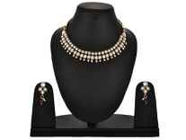 Zeneme Diva Fancy Party Wear Traditional Kundan Choker Necklace Set at Rs. 260 @ Amazon