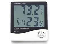 HTC-1 Temperature Humidity Time Display Meter with Alarm Clock Rs. 269 - Amazon