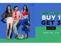 Jabong Clothing & Footwear Buy 1 Get 3 Free